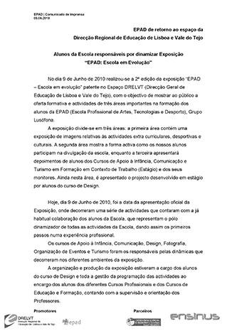 Press Release exposição