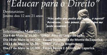 "Palestras ""Educar Para o Direito"" na EPAD"