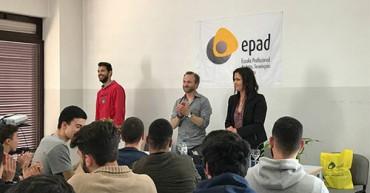 Atleta de Ciclismo partilha experiência com alunos | EPAD Gaia
