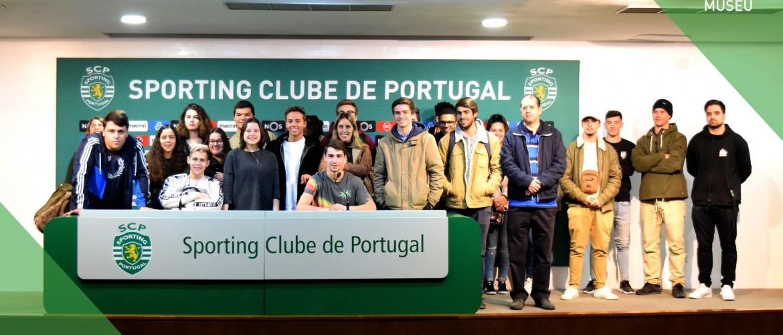 Técnicos de Organização de Eventos visitam o Estádio Alvalade XXI